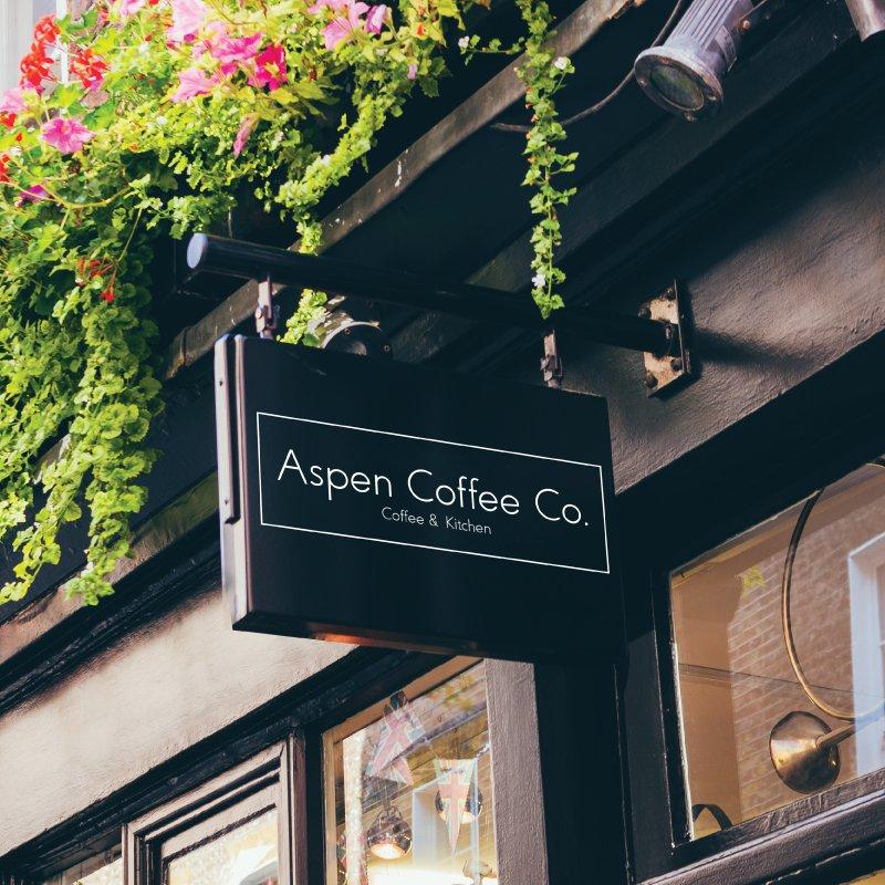 Aspen Coffee Company Signage design