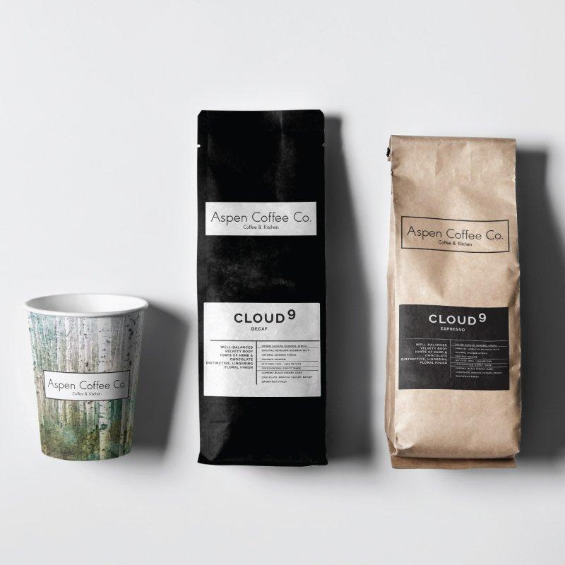 Aspen Coffee Company package design