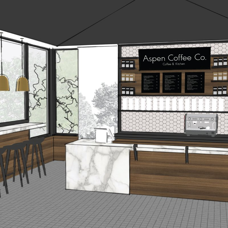 Aspen Coffee Company store interior design