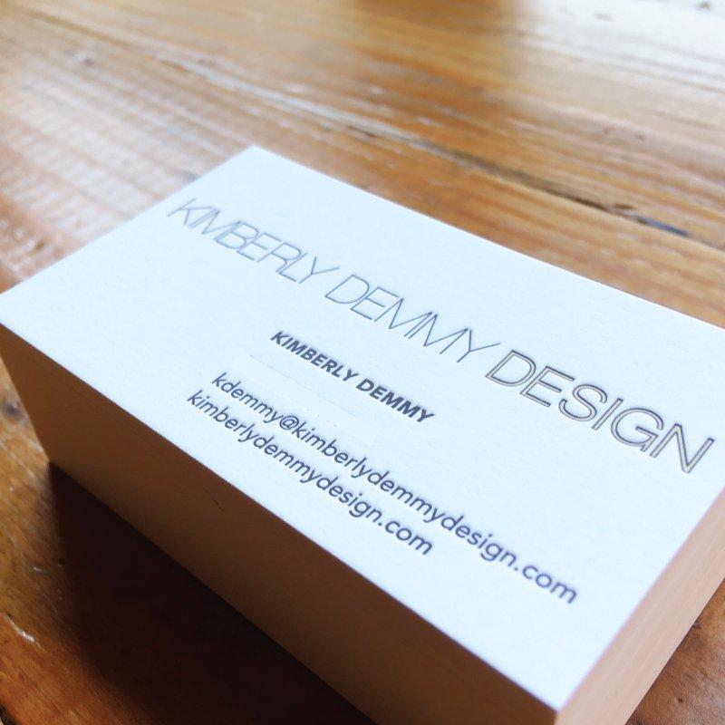 Kimberly Demmy Design business card design