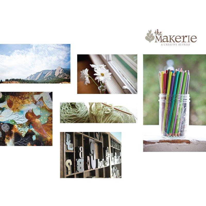 The Makerie postcard design