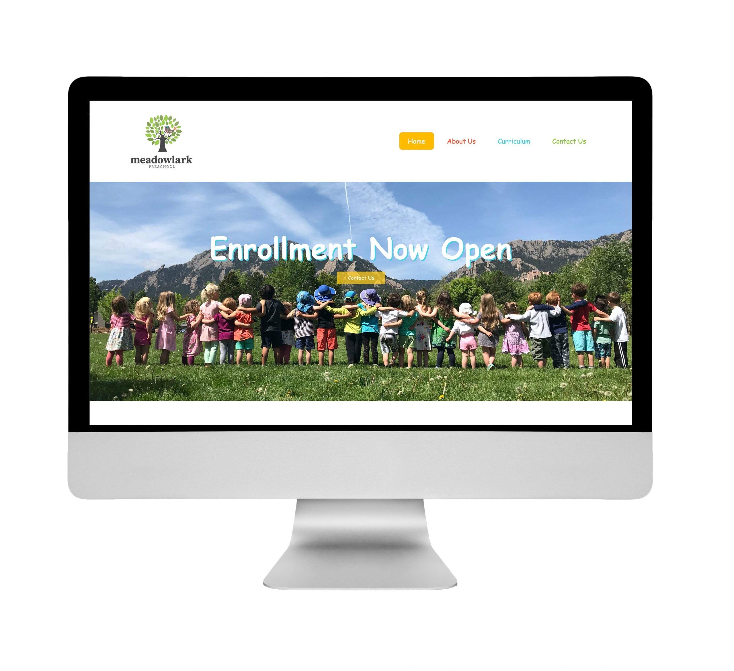 Meadowlark Preschool Website Design
