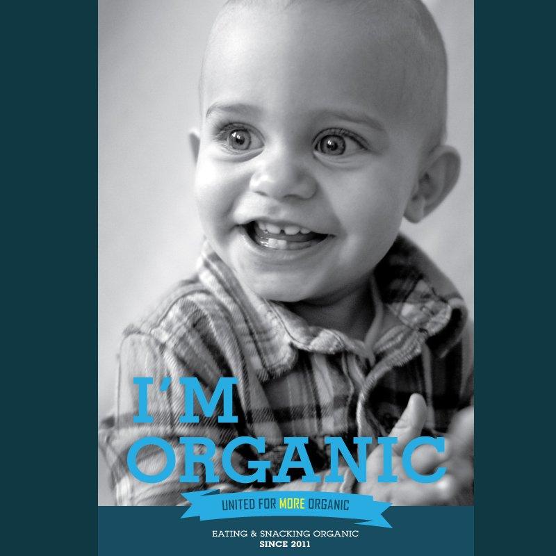 Organic Trade Organization postcard design I'm Organic campaign