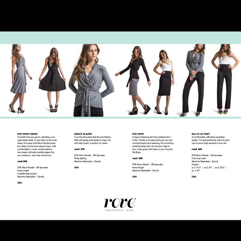 Rove travel apparel, lookbook design