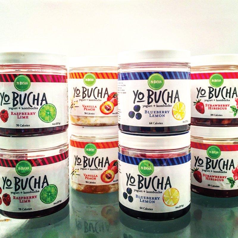 YoBucha Kombucha Yogurt package design